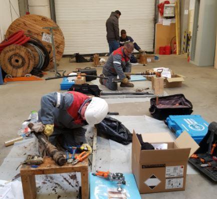 Recyclage formation accessoires sur câbles HTA à papier imprégné